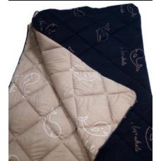 "Одеяло Washed Cotton ""Киты Комби"" антиаллергенноем летнееТМ BalakHome"