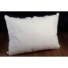 Льняная подушка с холлофайбером