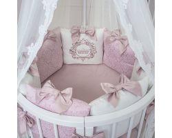 Эксклюзивный набор в кроватку 7 предметов, постельное, бортики
