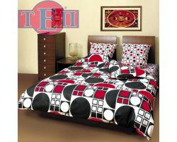 Постельное белье ТЕП 531 «Круг черно-красный»